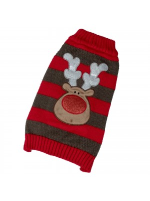 Petface Reindeer Dog Christmas Jumper
