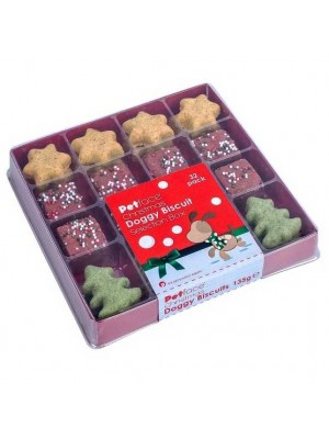 Petface Christmas Doggy Biscuits Gift Box