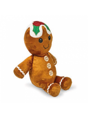 Petface Festive Gingerbread Man Dog Toy