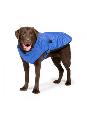 Sports Luxe Waterproof Dog Coat Blue by Danish Design