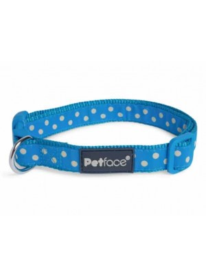 Petface Aqua Dots Dog Collar