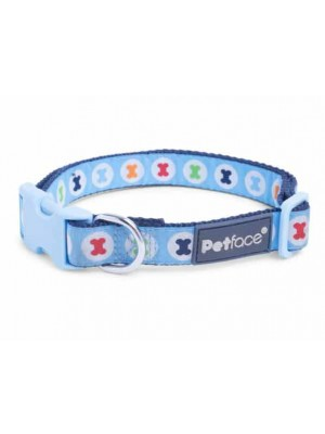 Petface Blue Bones Dog Collar