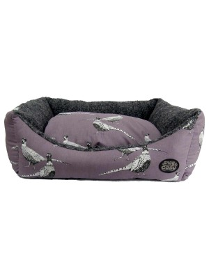 Pheasant Heater Print Dog Bed