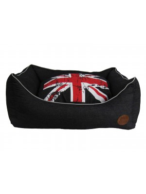 Snug and Cosy Union Jack Dog Bed