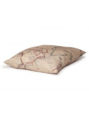Danish Design Vintage Maps Deep Duvet Dog Bed