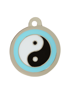 Ying Yang Dog ID Tag Blue