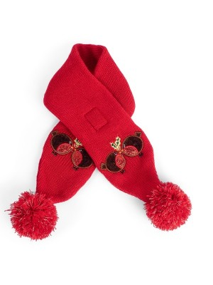 Petface Christmas Dog Scarf Red Robin