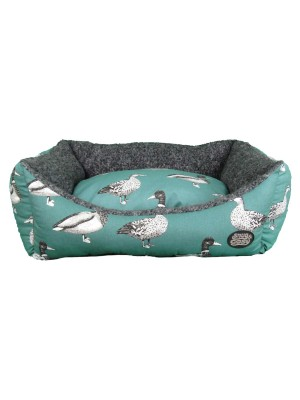 Teal Duck Dog Bed