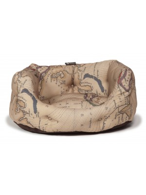 Danish Design Vintage Maps Deluxe Slumber Dog Bed
