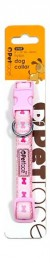 Petface Pink Bones Dog Collar