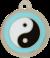 Ying Yang Dog ID Tag Blue