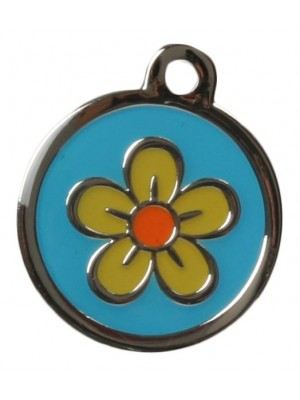 Flower Dog ID Tag