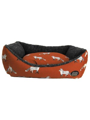 Fox Print Rectangular Dog Bed