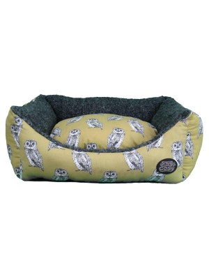 Owl Print Dog Bed