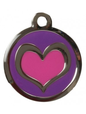 Purple & Purple Heart Dog ID Tag