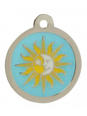 Sun & Mood Dog ID Tag
