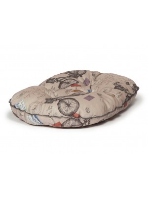 Danish Design Vintage Bicycles Luxury Quilted Mattress Dog Bed