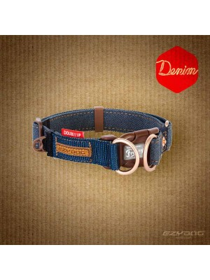 EzyDog Denim Double Up Dog Collar