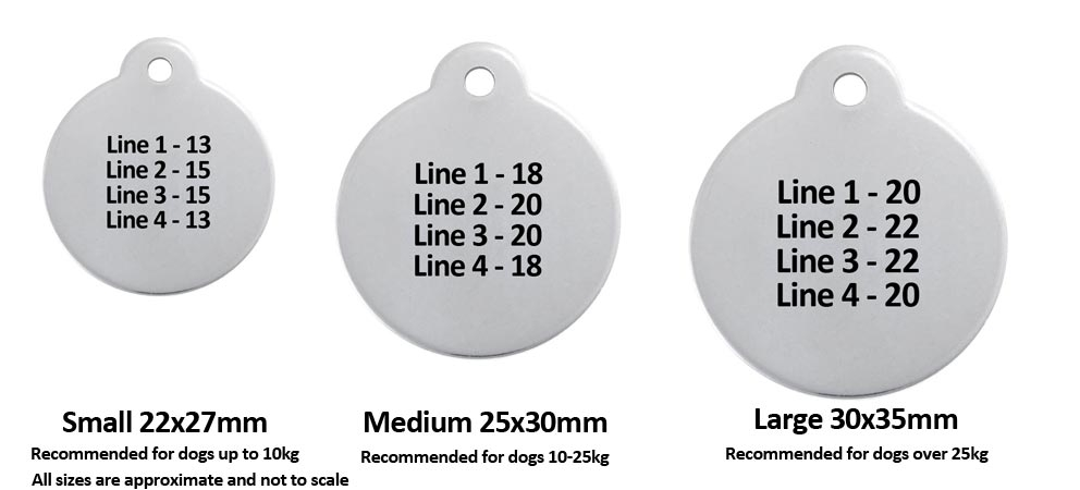 Dog ID Tag Size Guide