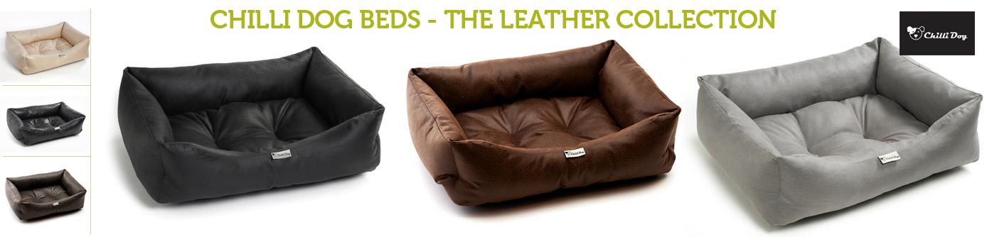 Chilli Dog Leather Dog Beds